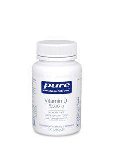 Vitamin D3 5000 IU 120 vcaps (VD51)